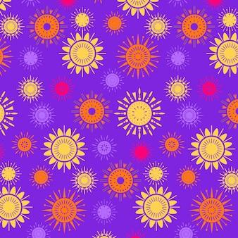 Modèle de soleil design plat