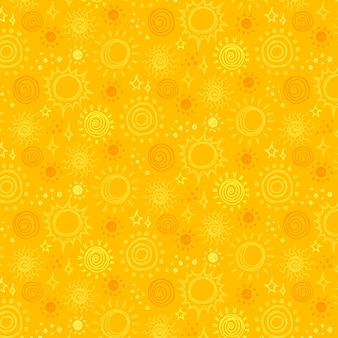 Modèle de soleil dessiné à la main