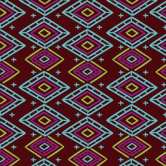 Modèle de songket traditionnel coloré