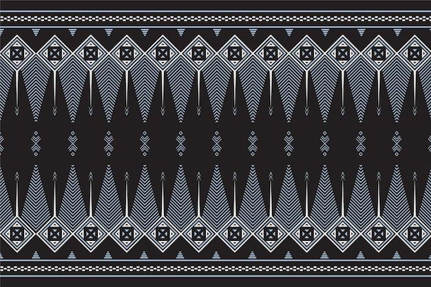Modèle de songket traditionnel avec des éléments gris