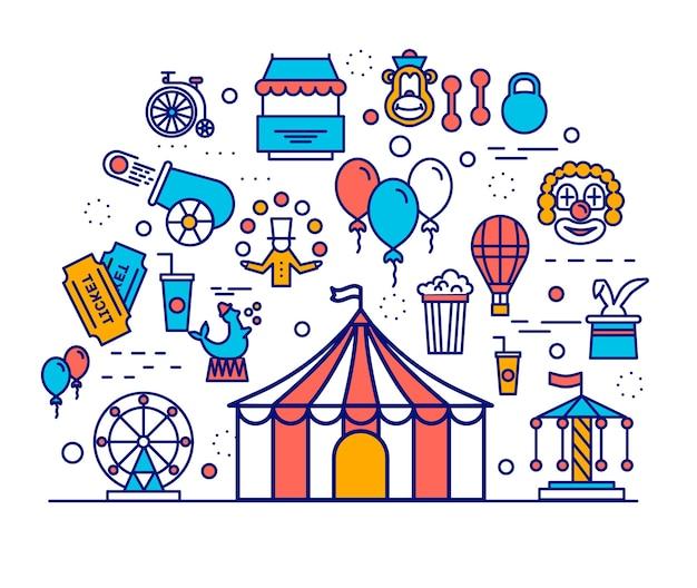 Modèle de spectacle de carnaval de fine ligne