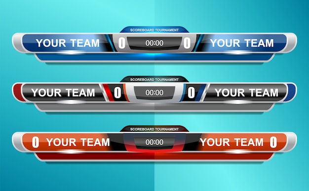 Modèle de sport de tableau de bord pour le football et le football