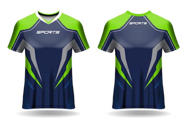 Modèle de sport de tshirt en jersey de football