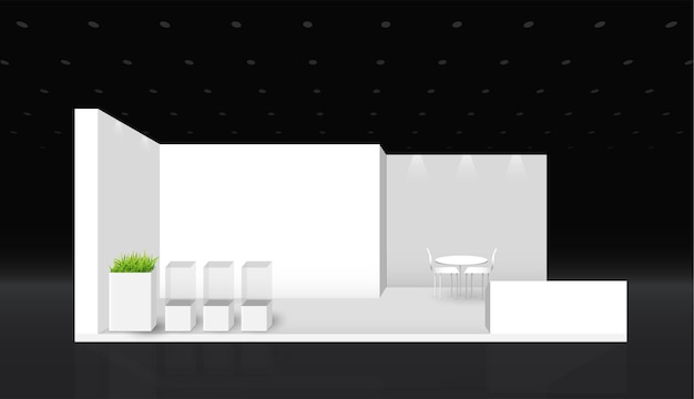 Modèle de stand. identité d'entreprise. conception d'illustration vectorielle de stand d'exposition créative.