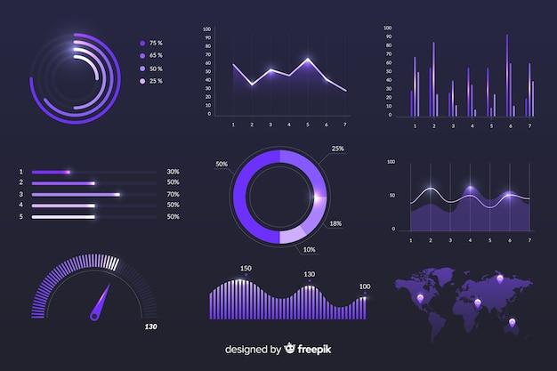 Modèle de statistiques de croissance marketing