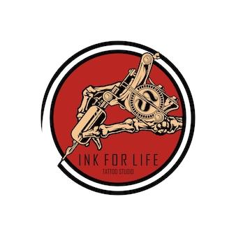Modèle de studio de tatouage logo