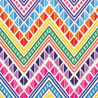 Modèle de style de broderie mexicaine colorée