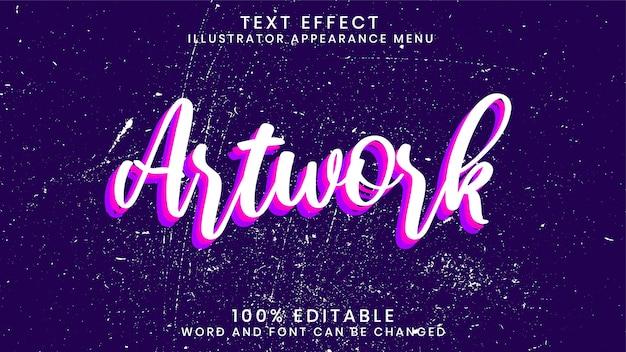 Modèle de style d'effet de texte 3d modifiable