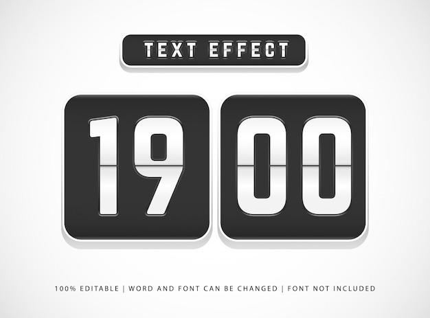 Modèle de style d'effet de texte modifiable