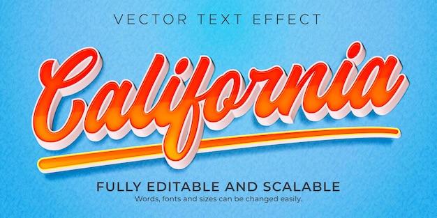 Modèle de style d'effet de texte rétro