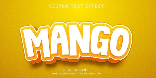 Modèle de style d'effets de texte de mangue