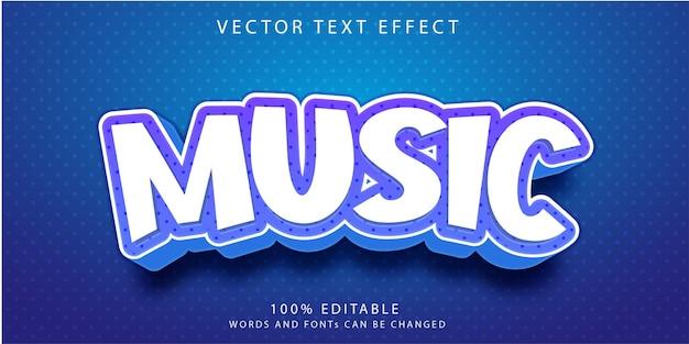 Modèle de style d'effets de texte de musique