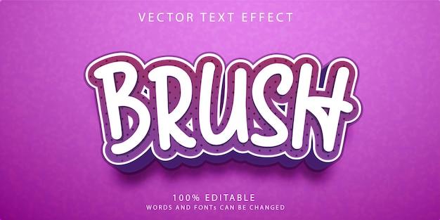 Modèle de style d'effets de texte de pinceau