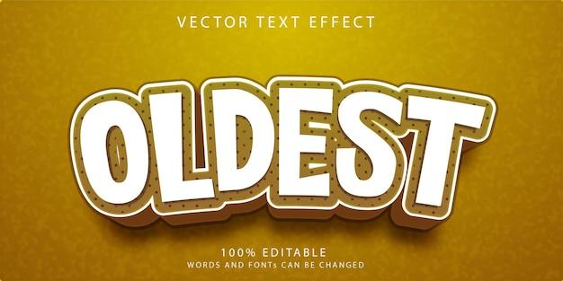 Modèle de style d'effets de texte le plus ancien