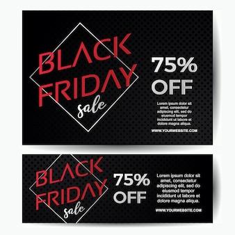 Modèle de style minimaliste de vente black friday vente bannière