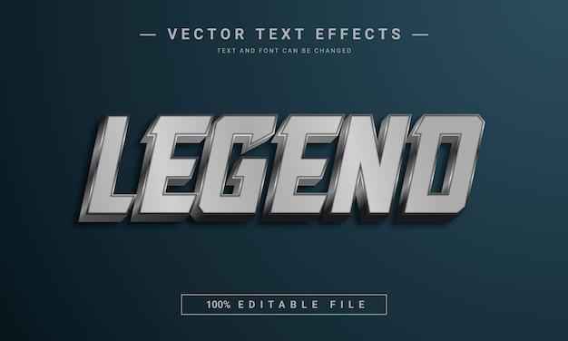Modèle de style de texte légende 3d