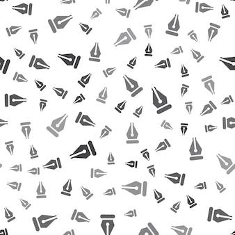 Modèle de stylo sans couture sur fond blanc. conception créative d'icône de stylo simple. peut être utilisé pour le papier peint, l'arrière-plan de la page web, le textile, l'interface utilisateur/ux d'impression