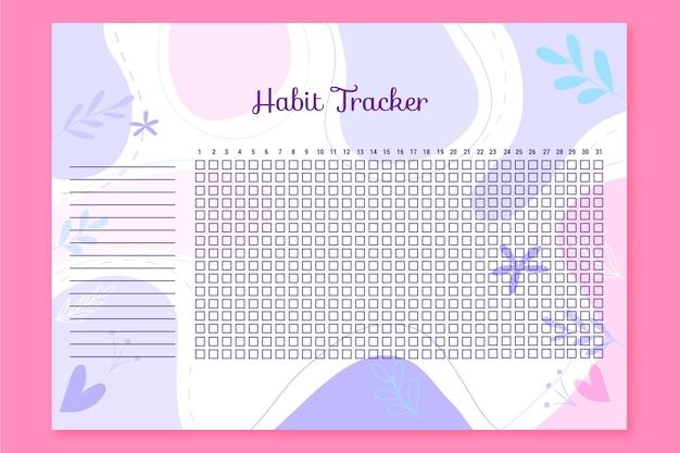 Modèle de suivi d'habitude