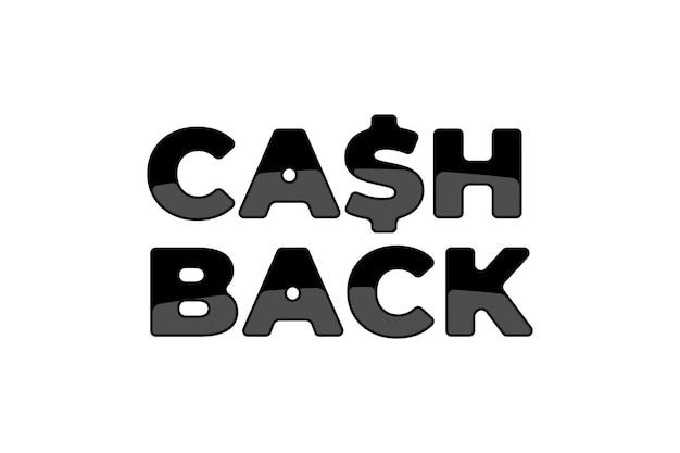 Modèle de symbole d'autocollant de service de remise en argent. signe de cashback de remboursement d'argent. lettre s comme illustration vectorielle emblème dollar noir isolé