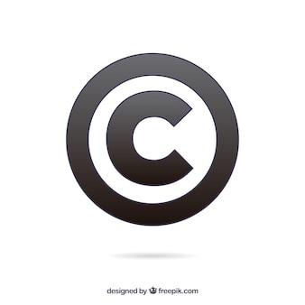 Modèle de symbole de copyright moderne