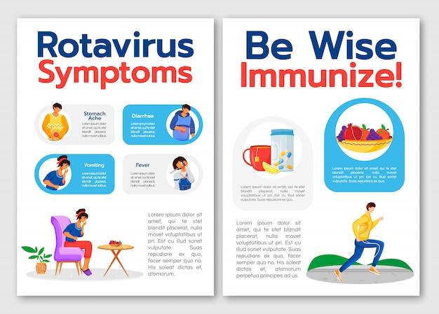 Modèle de symptômes de rotavirus
