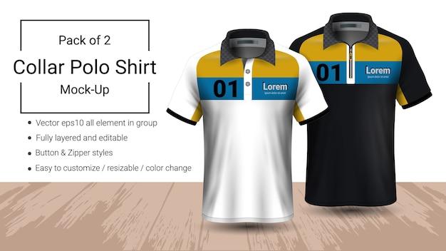 Modèle de t-shirt col polo