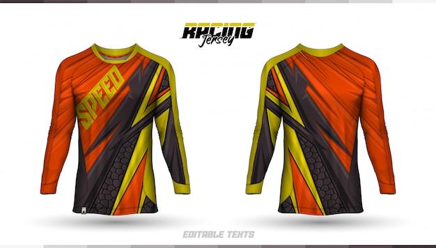 Modèle de t-shirt, conception de maillot de course, maillot de football