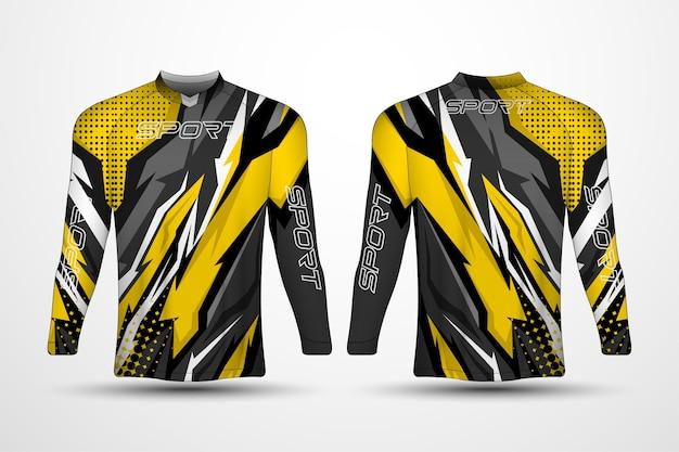 Modèle de t-shirt, maillot de sport de course