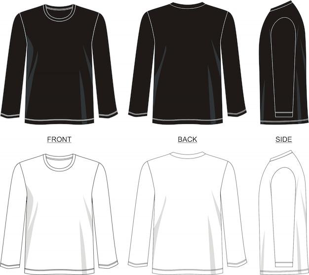 Modèle de t-shirt à manches longues