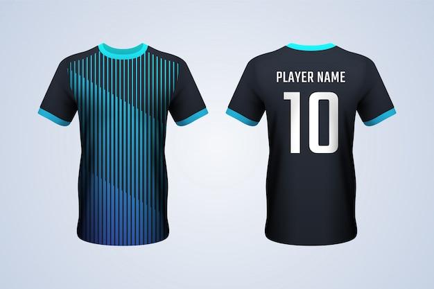 Modèle de t-shirt noir devant et dos