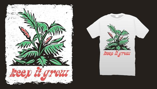 Modèle de t-shirt de plantes
