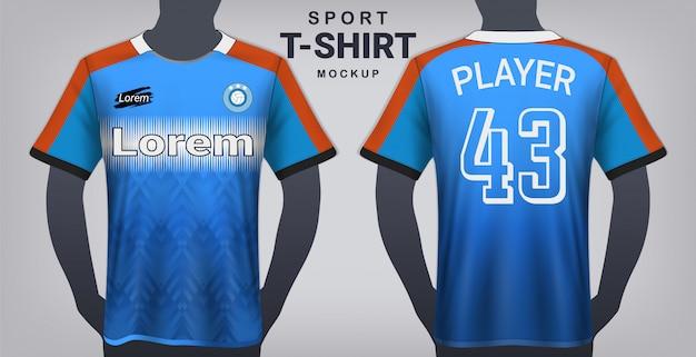 Modèle de t-shirt sport