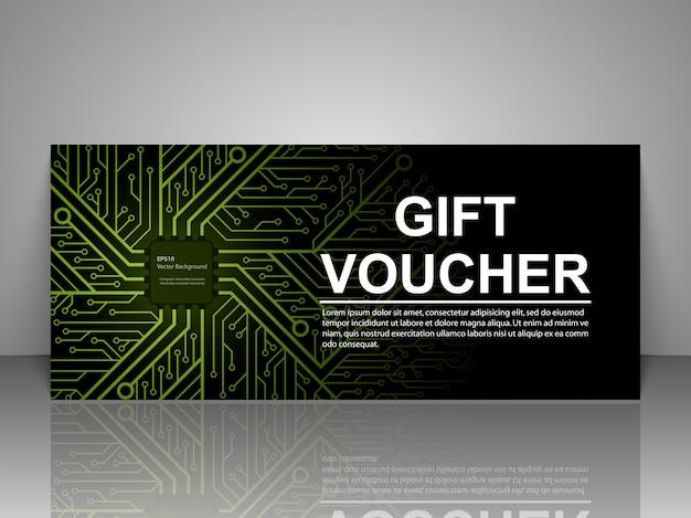 Modèle de technologie de bon cadeau.