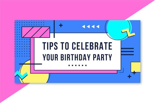 Modèle d'en-tête de blog d'anniversaire