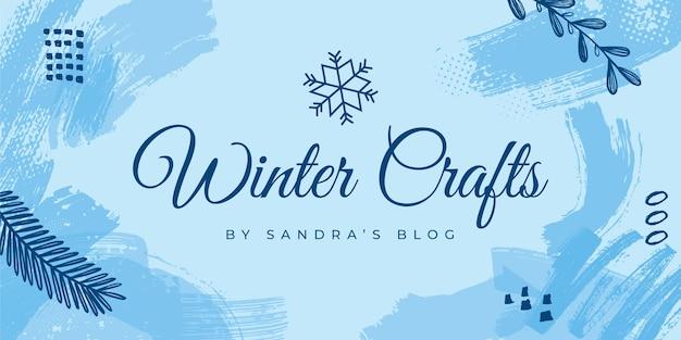 Modèle d'en-tête de blog d'hiver
