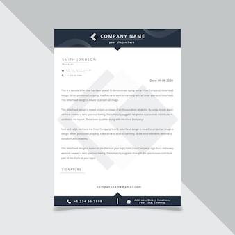 Modèle de tête de lettre de style commercial pour votre illustration de projet.