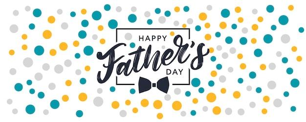 Modèle de texte de brosse de vente de bannière de lettrage de fête des pères heureux