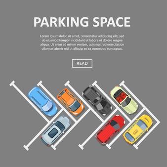 Modèle de texte de l'espace de stationnement
