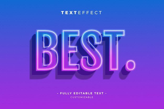 Modèle de texte premium modifiable de style d'effet de texte et de police