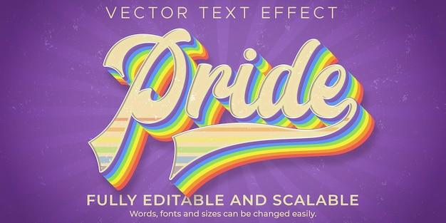 Modèle de texte vintage rétro fierté