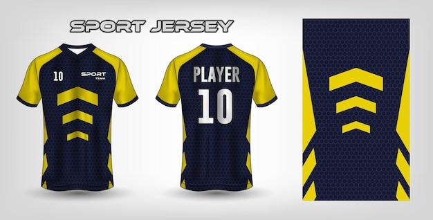 Modèle textile de tissu de conception de maillot de sport