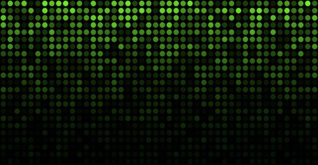 Modèle de texture de cercle abstrait pixel vert vert lueur numérique.