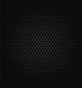 Modèle texturé de perforation métallique sur fond noir.