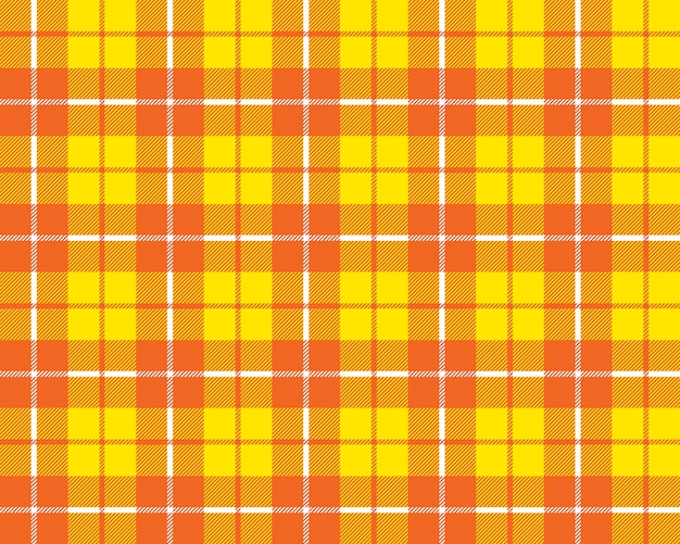 Modèle de texture de tissu tartan jaune orange sans soudure