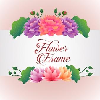Modèle avec thème fleuri de lotus
