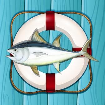 Un modèle de thon bleu marine
