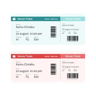Modèle de ticket de cinéma