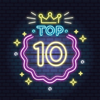 Modèle top 10 néon
