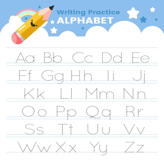 Modèle de traçage alphabet
