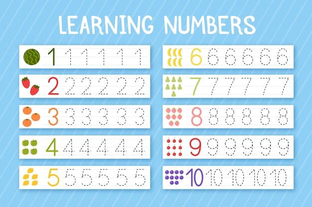 Modèle de traçage des nombres